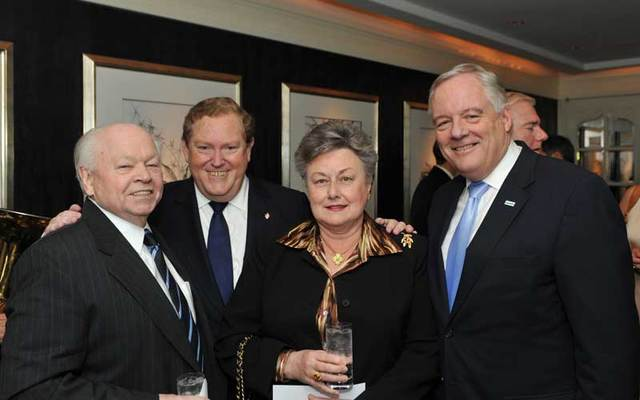 Gerry Toner, left, with Tom Moran, Cathy Toner and Ed Kenney.