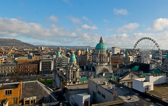 The beautiful Belfast City, from above.