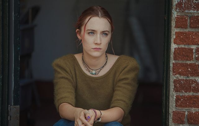 Saoirse Ronan as Christine 'Lady Bird' McPherson in Lady Bird.