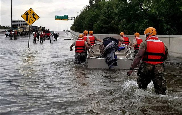 Texas Army National Guard on the ground in Hurricane Harvery-struck Texas.