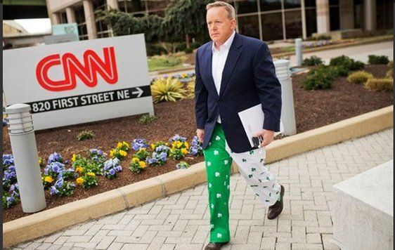 Sean Spicer has always worn his love of Ireland on his sleeve if not his pants.