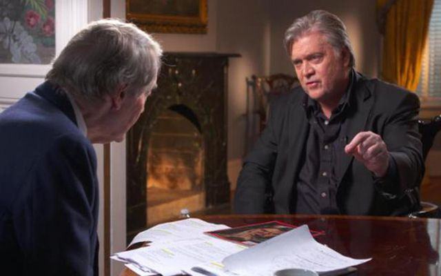 Charlie Rose interviews Steve Bannon on 60 Minutes.