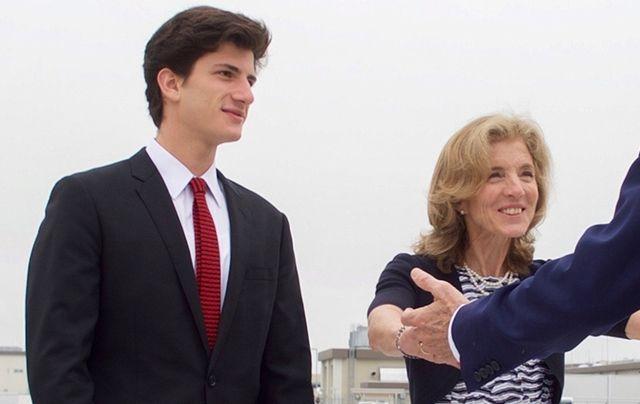 Jack Schlossberg, JFK's grandson, with his mother Caroline Kennedy.