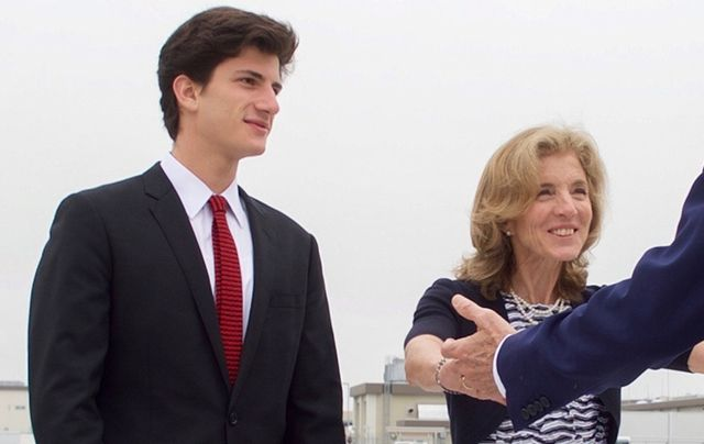 Jack Schlossberg, JFK\'s grandson, with his mother Caroline Kennedy.