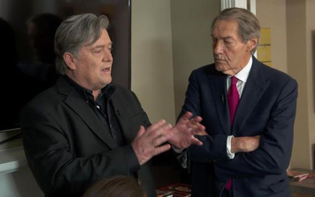 Steve Bannon and Charlie Rose
