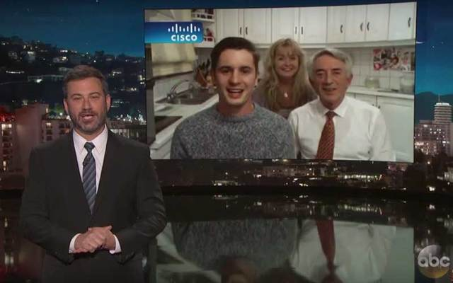 The Fleming family tell Jimmy Kimmel about their viral video showing the Irish family trying to catch a bat that flew into their home.
