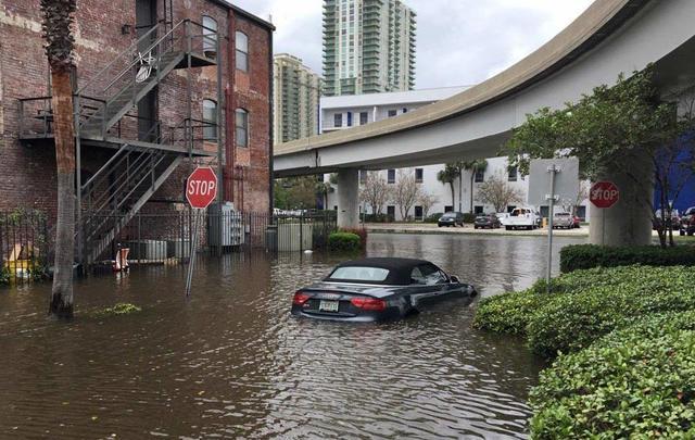 Downtown Jacksonville in the wake of Hurricane Irma.