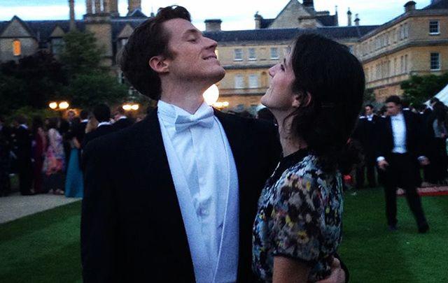 The happy couple: JFK's granddaughter Tatiana Schlossberg and her husband George Moran.