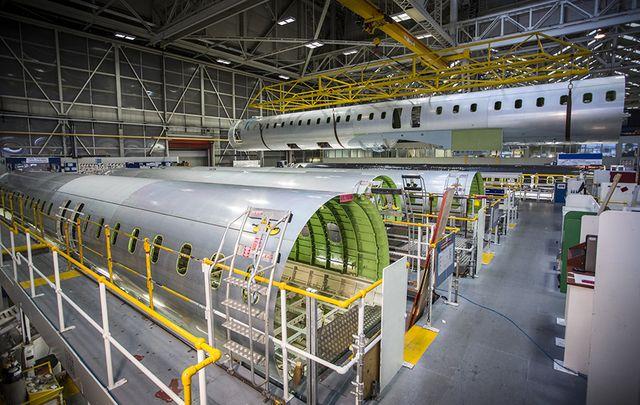 Inside Bombardier in Belfast.