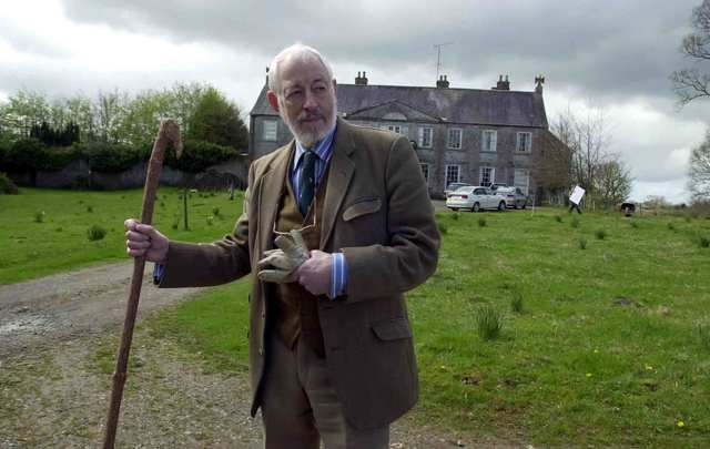 "JP Donleavy, author of ""The Ginger Man\"", outside his home at Levington Park estate in Co. Westmeath."