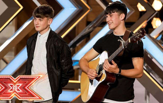 Stars in the making: Sean and Conor Price, on The X Factor.