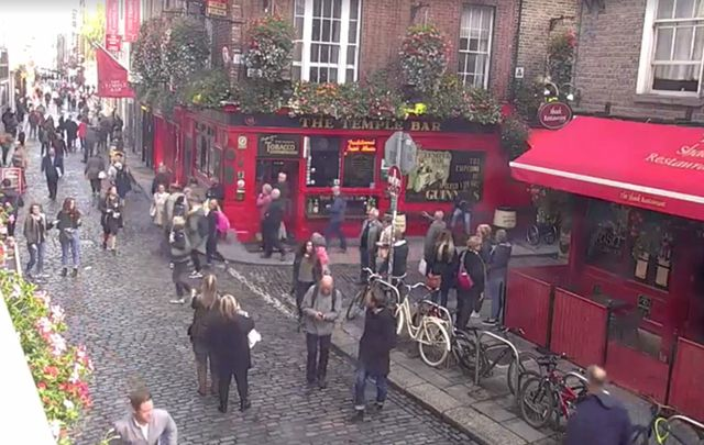 What Dublin city stroll by on this live stream.