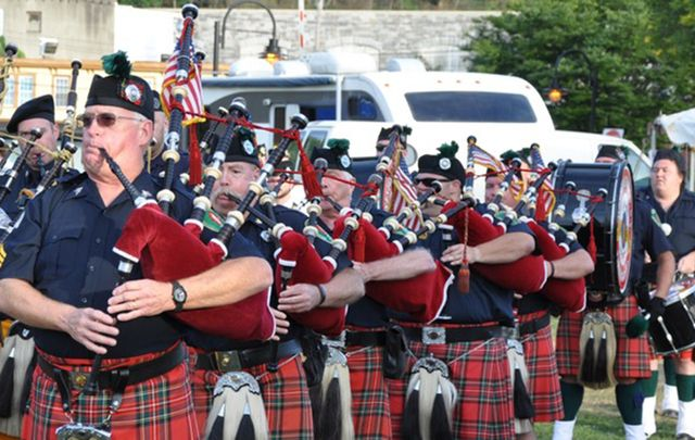 Pipers take part in last year's Hudson Valley Irish Fest.