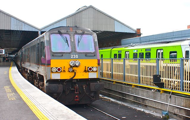 The Dublin to Belfast Enterprise train.