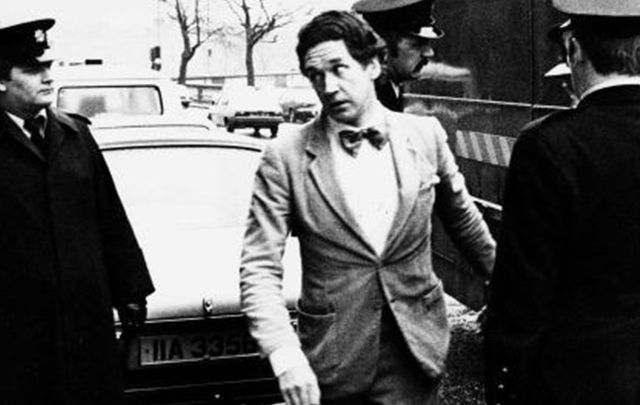Double killer Malcolm MacArthur arriving in a Dublin court in 1982.