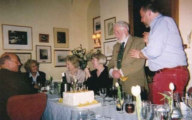 J.P. Donleavy's 82nd birthday party in Dublin.