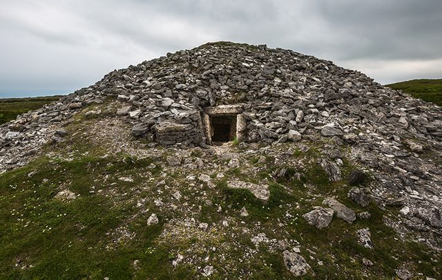 Ancient Neolithic tomb at Carrowkeel, County Sligo.