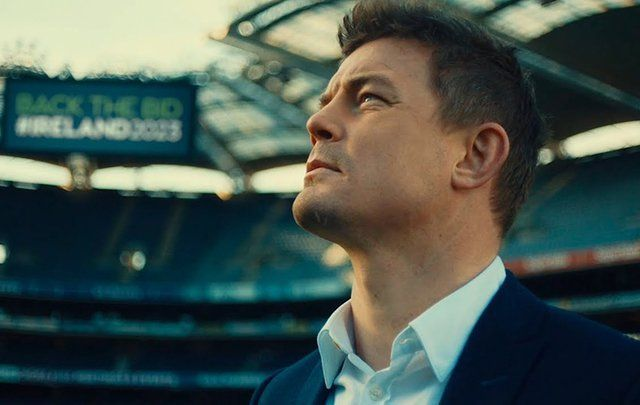Brian O\'Driscoll, Ambassador for World Cup Bid #Ireland2023 and former captain of Ireland\'s rugby team.