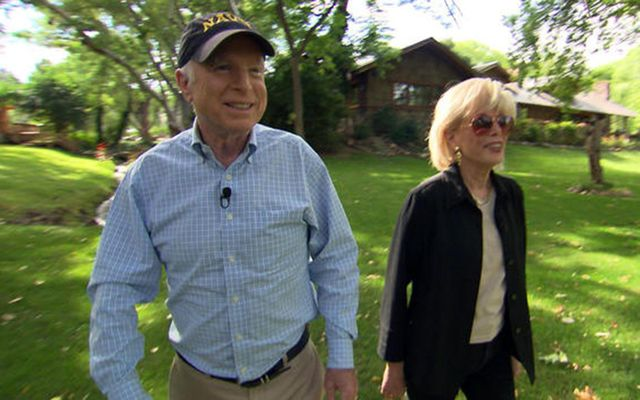John McCain and his wife Cindy on CBS' 60 Minutes