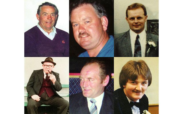 The six victims of the Loughinisland massacre, in 1994.