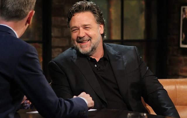 Russell Crowe on the Late Late show.