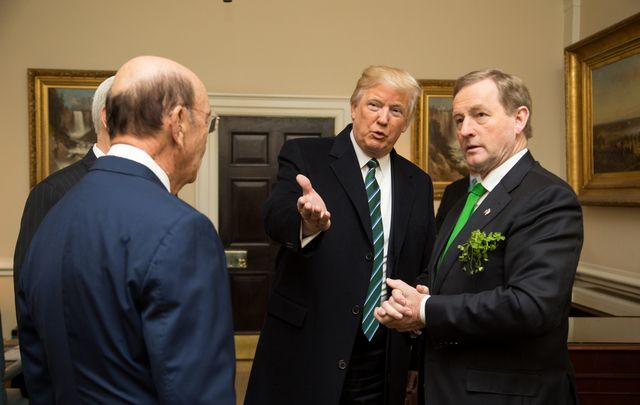 President Trump hosting Irish leader Enda Kenny for St Patrick's Day