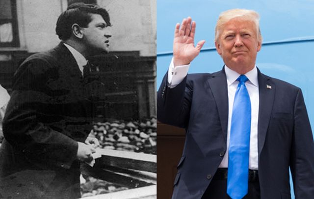 Irish hero Michael Collins and US President Donald Trump have more in common than you might think.