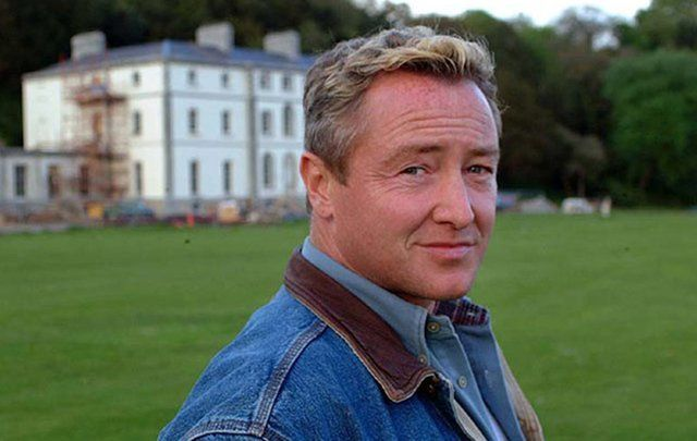 Michael Flatley outside his former home, Castle Hyde, Fermoy, Co. Cork. \n