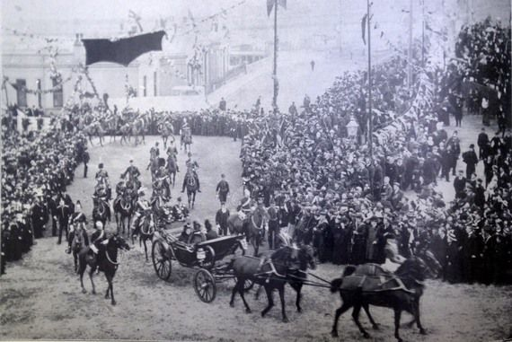 Queen Victoria on a state visit to Ireland.