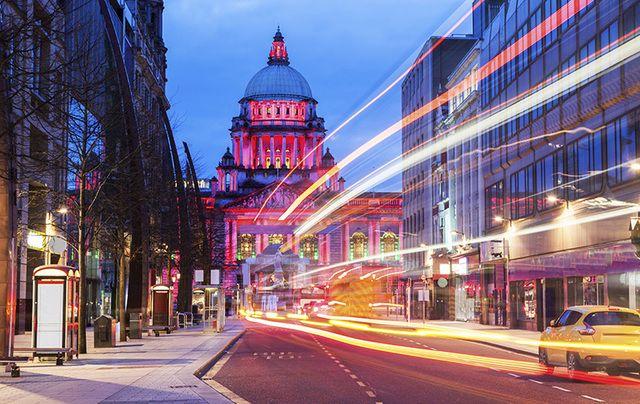 Belfast City at night.