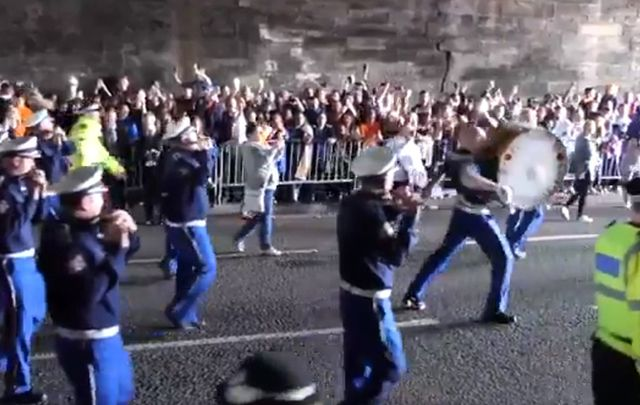 60 bands took part in an Orange Order parade in Glasgow early this year.