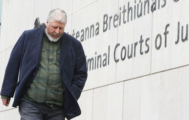 Former Irish Times sports columnist Tom Humphries arrives in court.