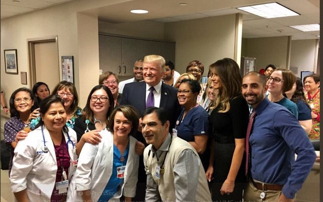 President and First Lady Trump met yesterday with members of the Trauma Team at UMC who treated over 100 people after the Las Vegas shooting.