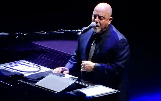 The Piano Man, Billy Joel, playing at Madison Square Gardens.
