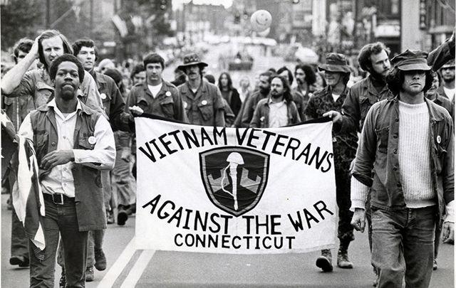 A Vietnam War protest.
