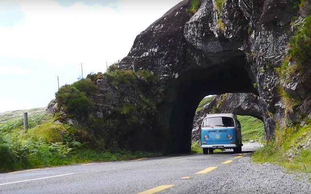 The Irish newlyweds traveled the Wild Atlantic Way in a vintage Volkswagen Camper.