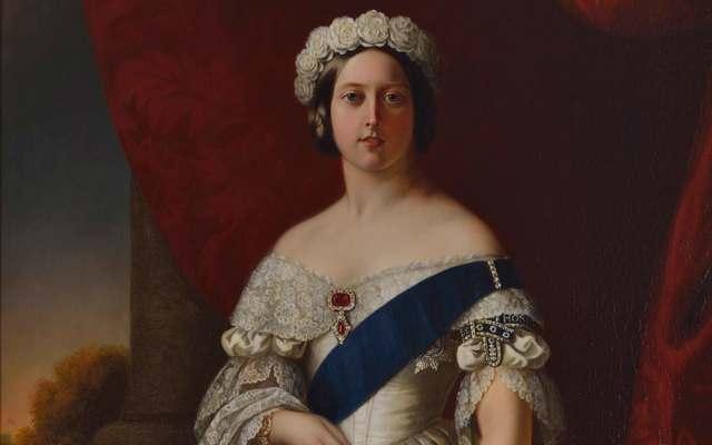 Queen Victoria, the Irish famine queen, by Alexander Melville, 1845.