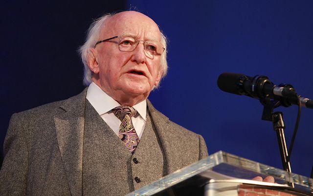 Ireland\'s President Michael D Higgins.