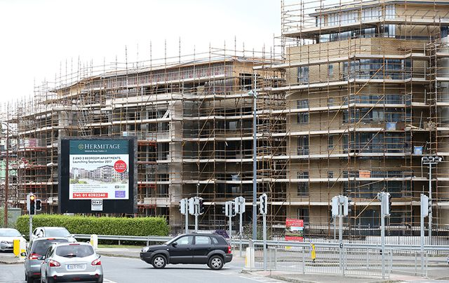 A housing development going up in Dublin earlier this month.