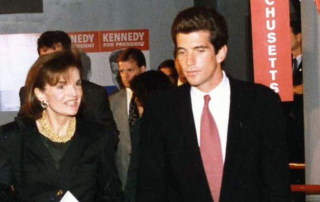 Jackie Kennedy and John F Kennedy Jr.