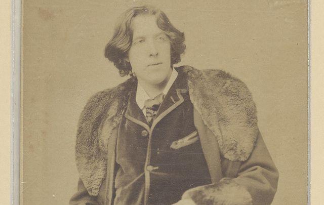 A portrait of Oscar Wilde.