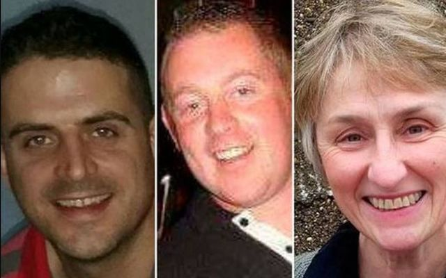 The victims of Storm Ophelia: Fintan Goss, Michael Pyke and Claire O\'Neill.