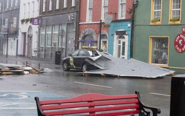 Storm debris in Kinsale.