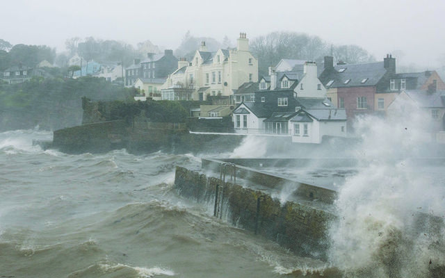 The coast of Ireland has been buffeted by roaring waves