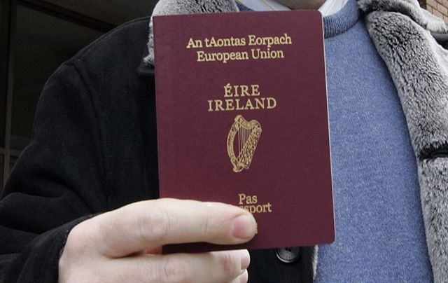 "Irish passport: ""we will soon have a glut of new countrymen and countrywomen joining us under the Tricolor.\"""