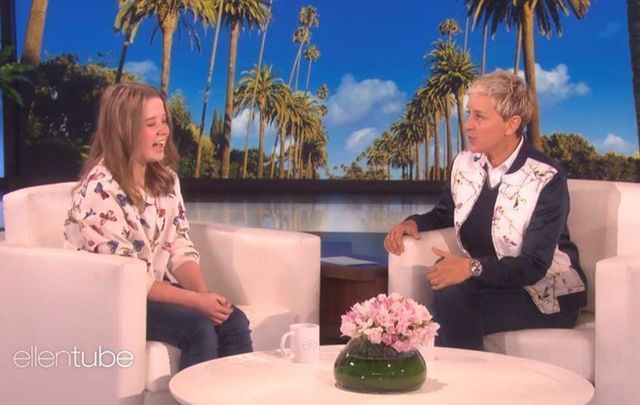 Eimear O\'Tuathail meeting her idol Ellen Degeneres.