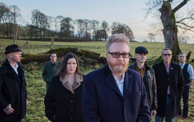 The brilliant beloved Irish American Celtic punk band Flogging Molly.