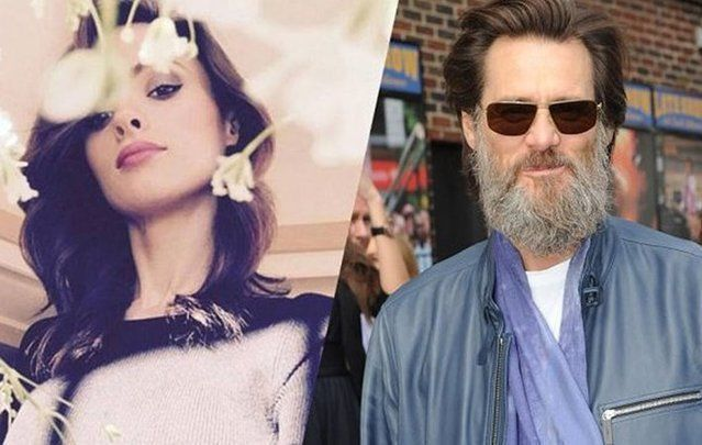 Tipperary makeup artist Cathriona White and actor Jim Carrey.