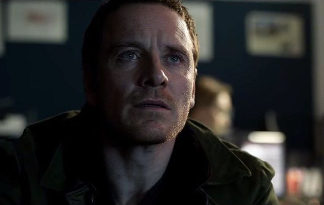 Michael Fassbender in his new thriller, The Snowman.