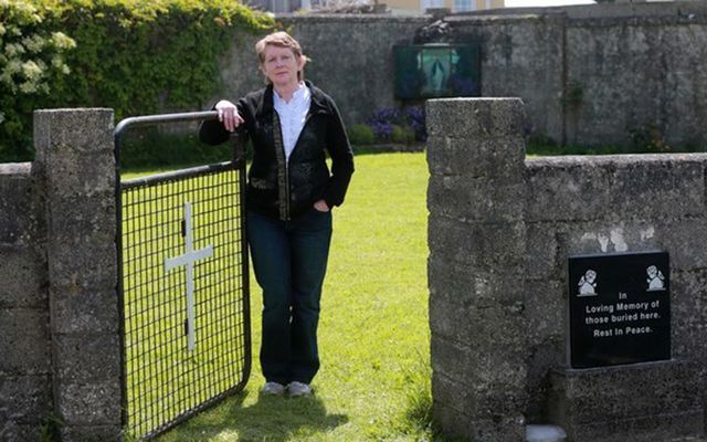 Catherine Corless at the site of the Bon Secours Mother and Baby Home in Tuam